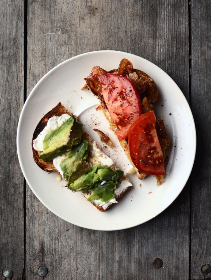 Lunch/Supper Idea: Bacon, Avocado and Tomato Sandwich