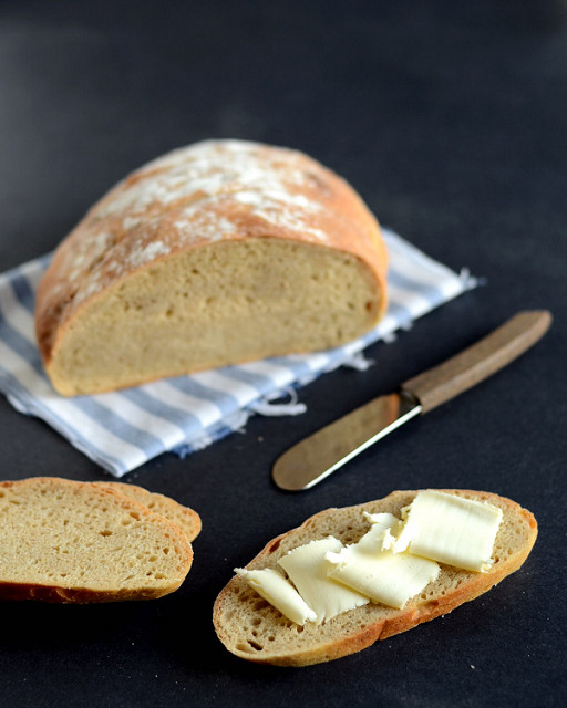 No Knead Bread | Buttered Side Up