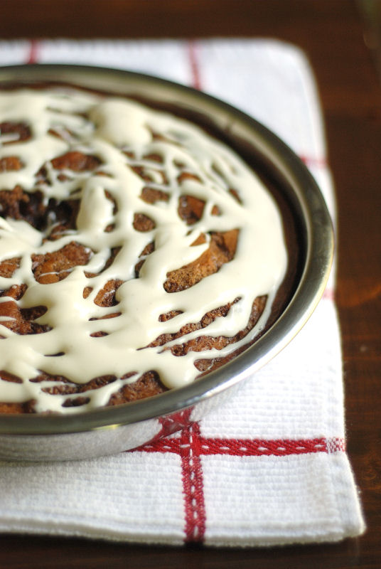 Cinnamon Roll Cake | Buttered Side Up