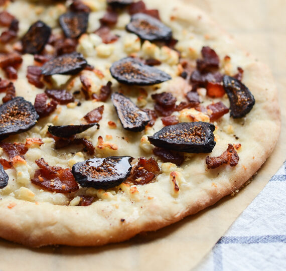 Bacon, Feta, and Fig Pizza