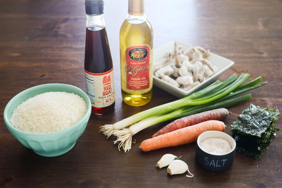 Korean Shrimp and Rice Porridge (Saewoojuk)