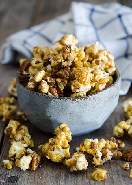 Salted Pecan Caramel Corn