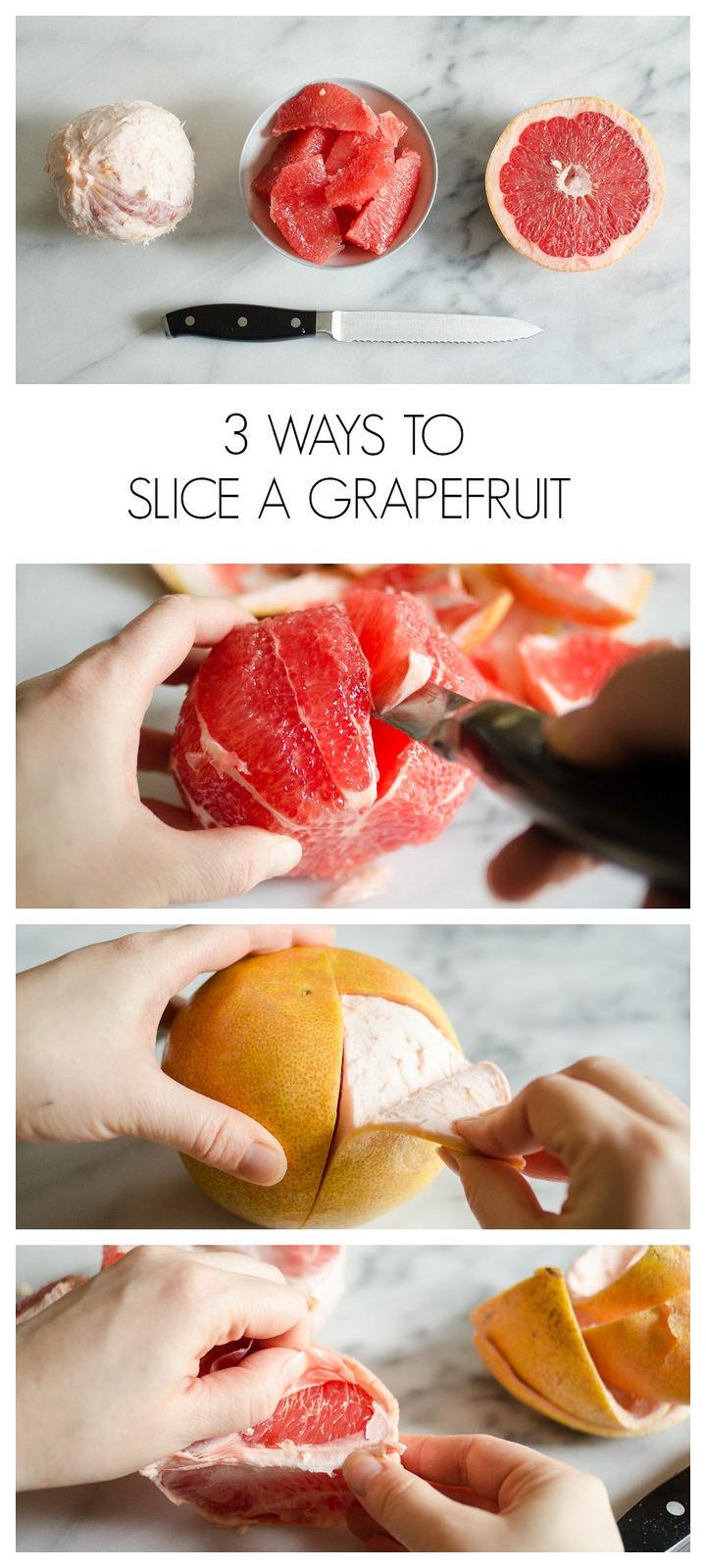 3 Ways to Slice a Grapefruit