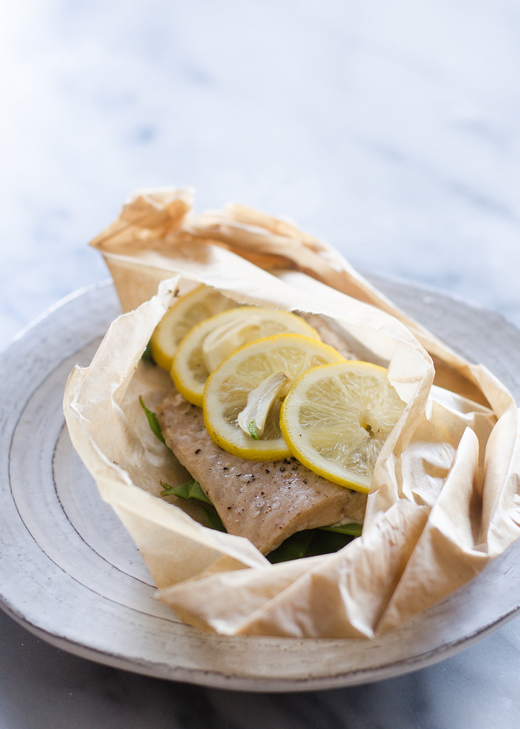 Salmon en Papillote   Buttered Side Up