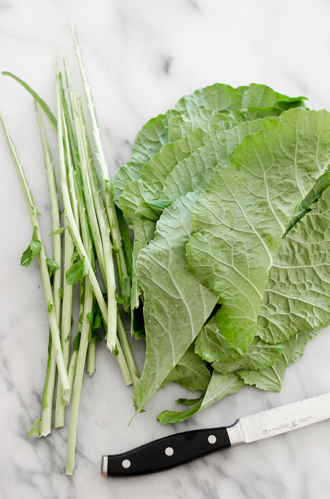 Collard Greens - Learn how to prepare collard greens, along with recipe ideas for what do make with them!