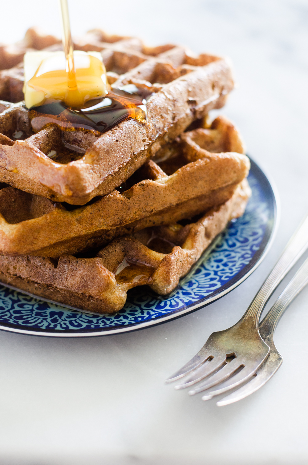 Gluten Free and Grain Free Waffles - these waffles are not only gluten and grain free, they also contain ZERO flour. No almond flour, no chickpea flour, no arrowroot...just a weird ingredient that acts like flour! Click to learn more...