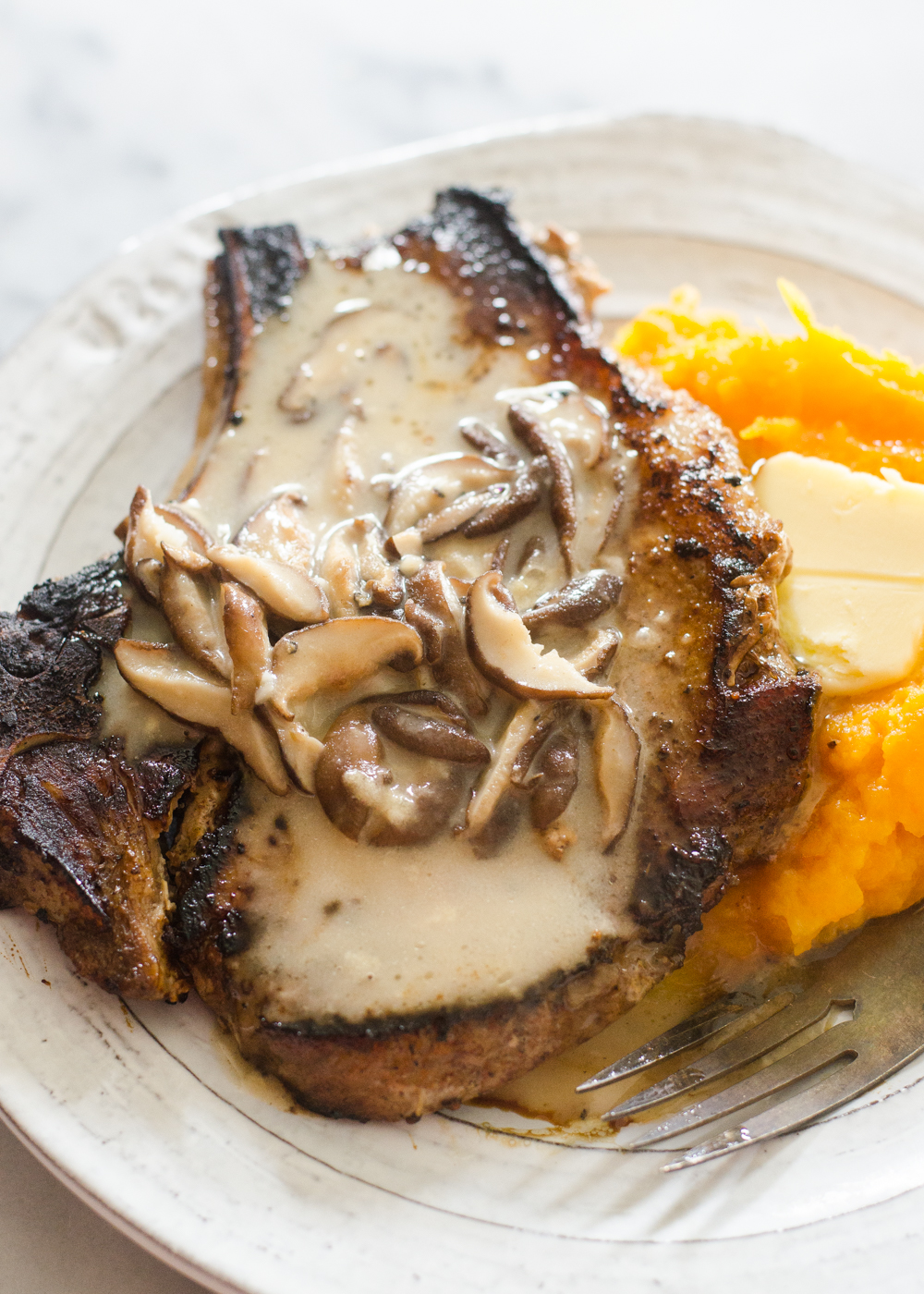 Butcher Box Review Meal 12 - Pork Chops with Creamy Shiitake Gravy