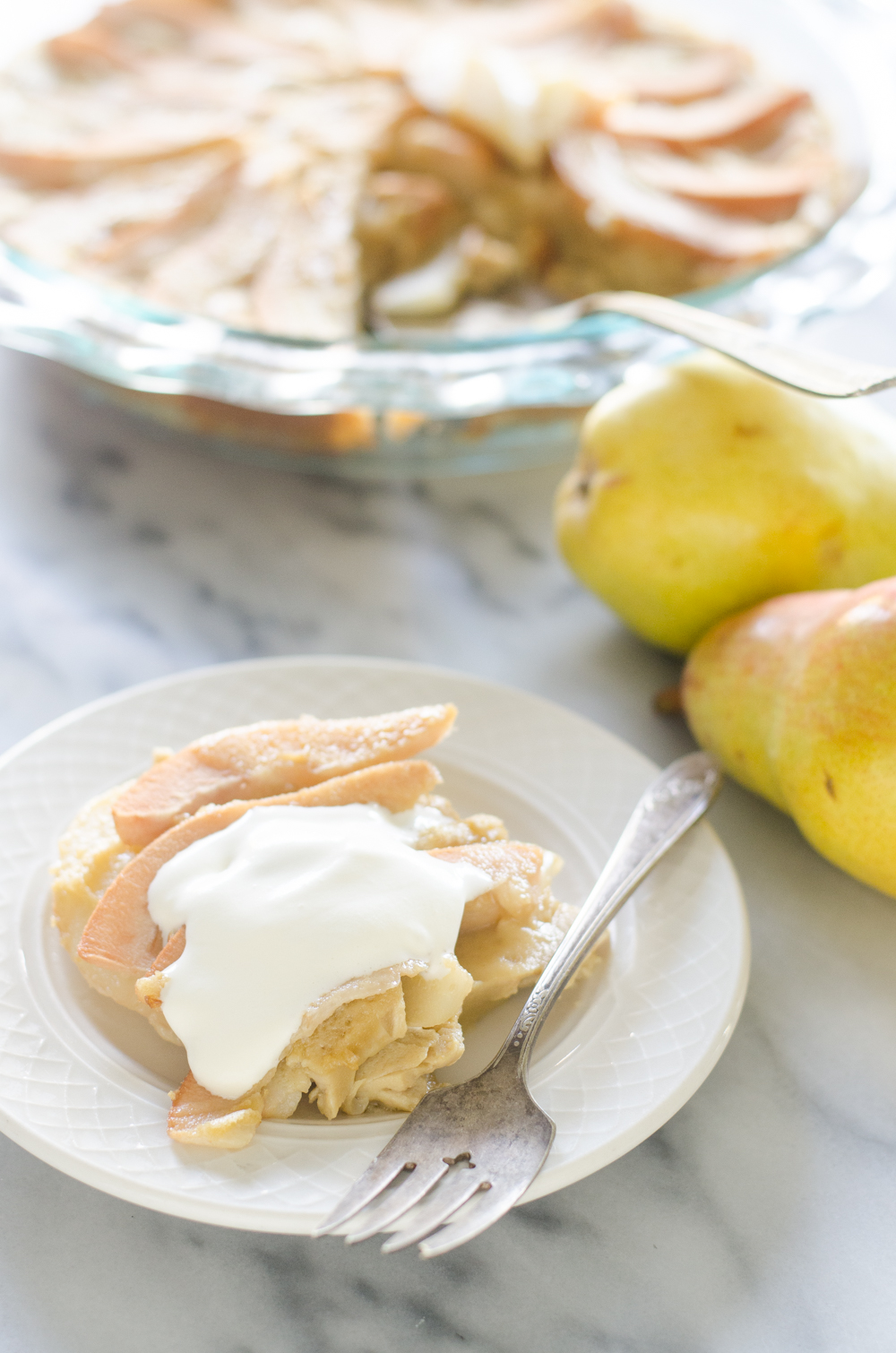 Einkorn Pear Custard Pie