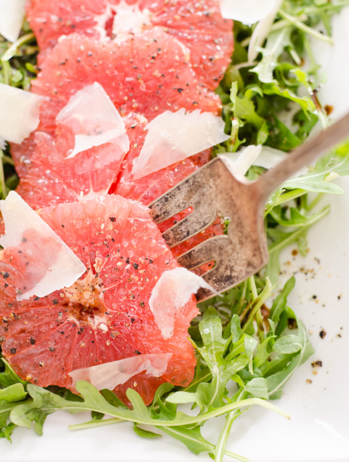 Winter Salad Inspiration: Grapefruit and Arugula Salad