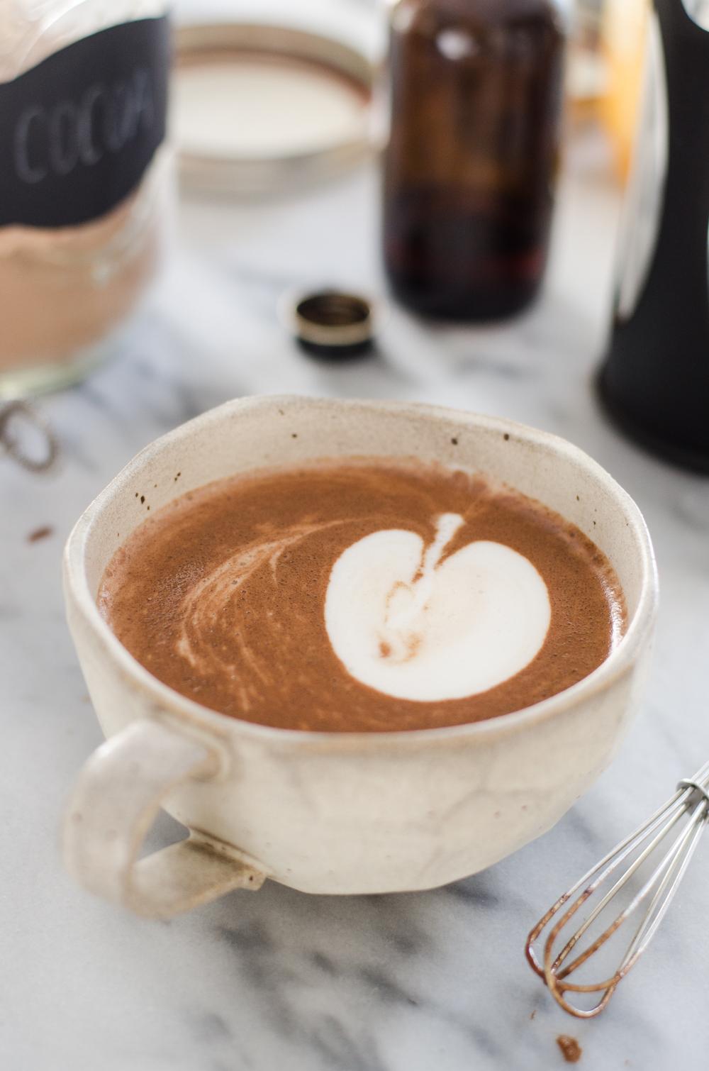 Homemade Hot Cocoa + Pink Whipped Cream