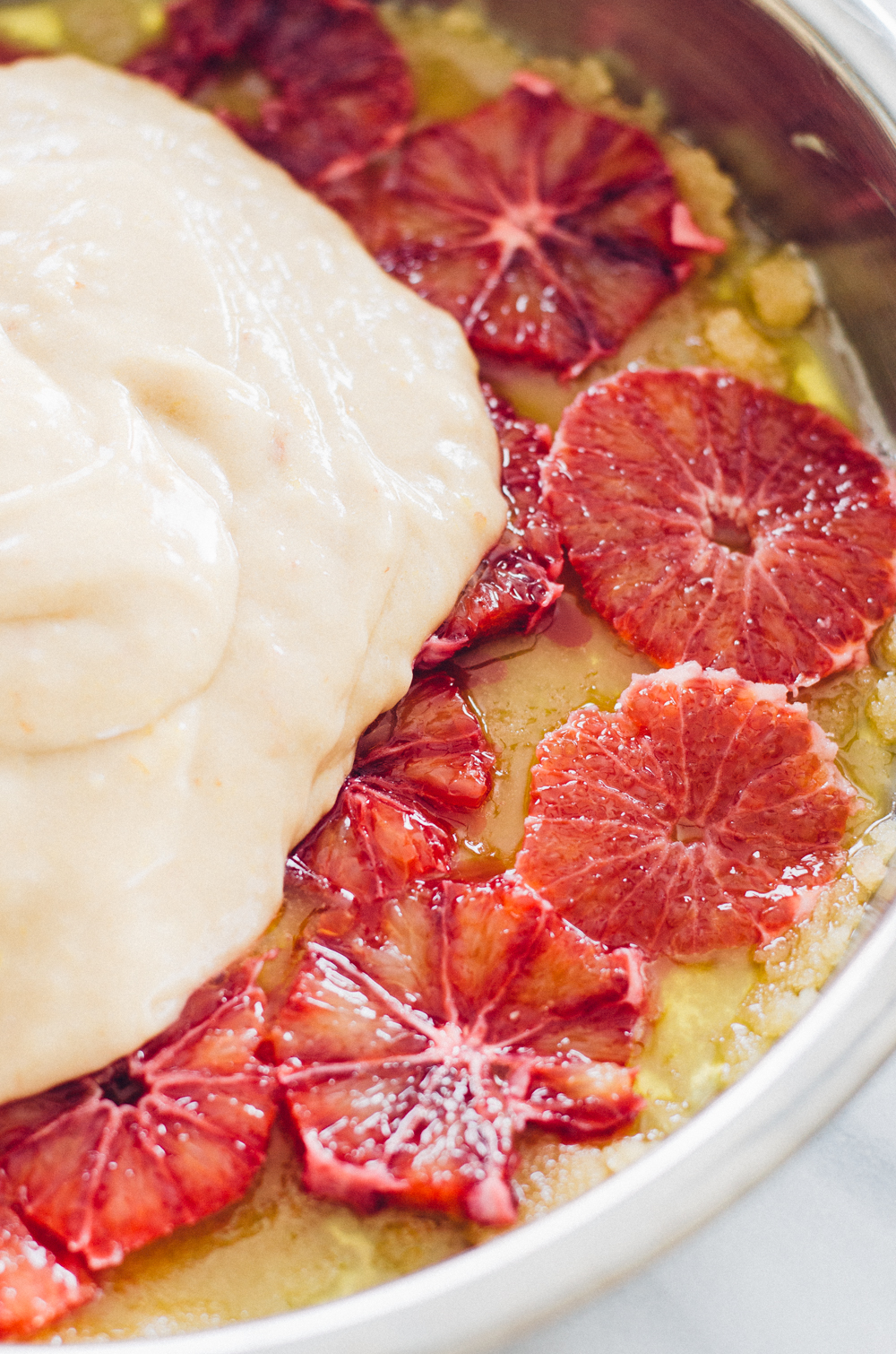 Blood Orange Olive Oil Cake - a ridiculously easy dessert that is super flavorful.