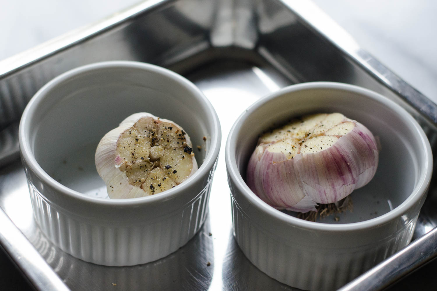 How to Roast Garlic Without Aluminum Foil - Learn how to easily roast garlic without wrapping it in aluminum foil!