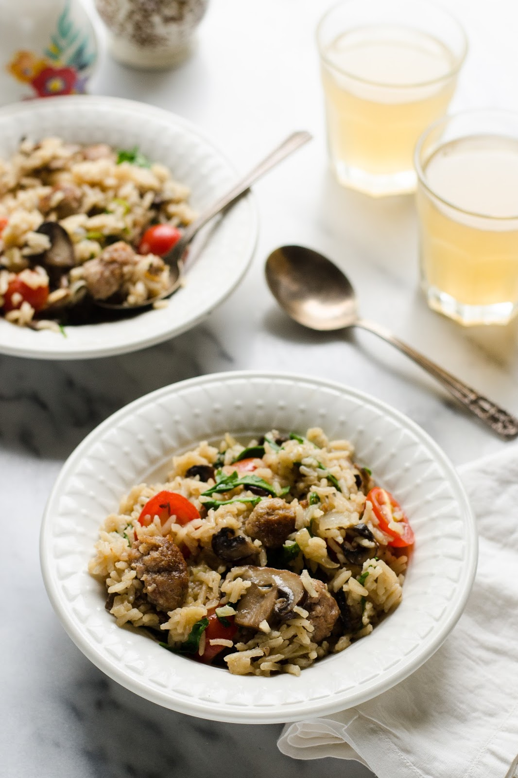 One-Pot Sausage and Veggie Rice