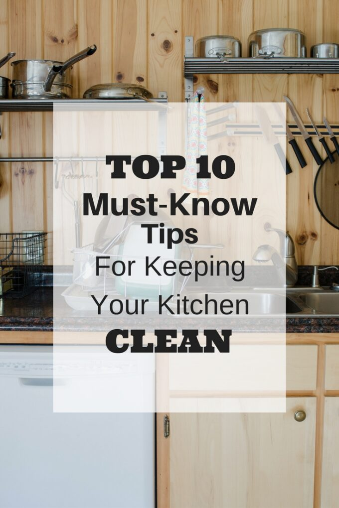Tips For Keeping Your Kitchen Clean - Buttered Side Up