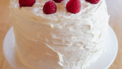 Chocolate Cake With Raspberries And Cream Cheese Frosting