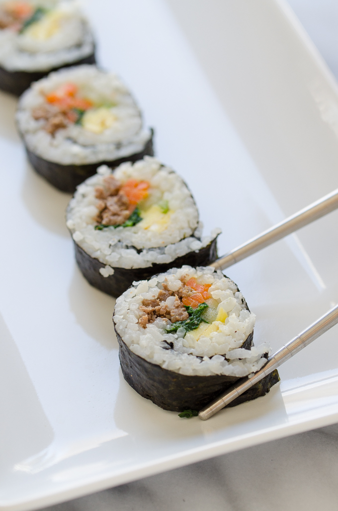 Ground Beef Gimbap - 김밥