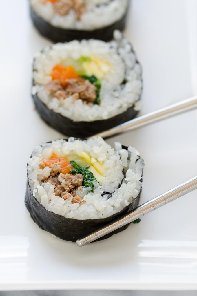 Ground Beef Gimbap 김밥 AKA Korean Sushi