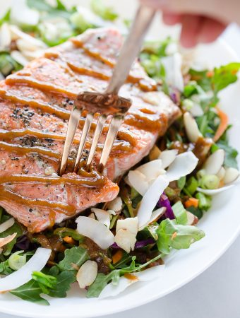 Thai Peanut Salmon Salad