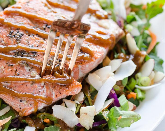 Thai Peanut Salmon Salad