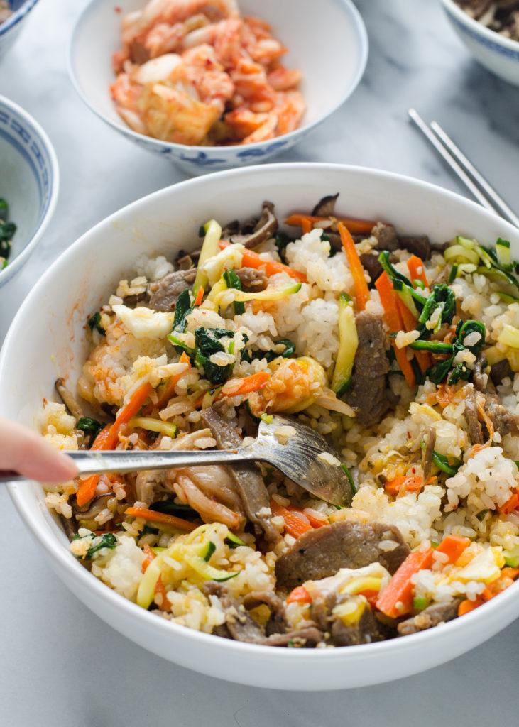 Bibimbap (비빔밥) - Korean Mixed Rice Dish!