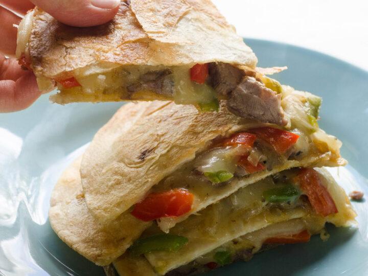 Philly Cheesesteak Quesadillas recipe