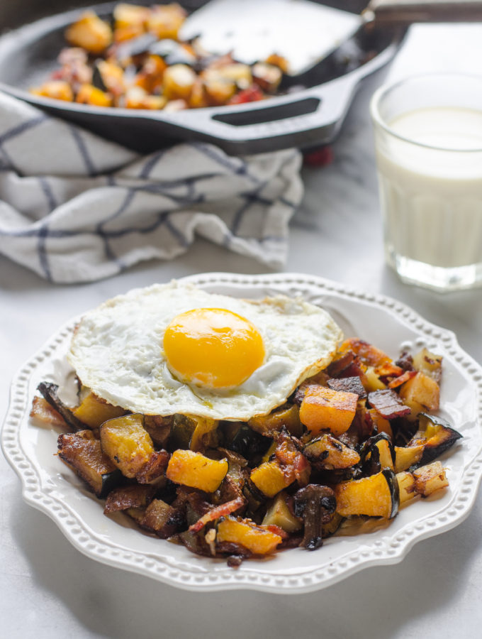 Roasted Squash and Bacon Hash + Life Lately