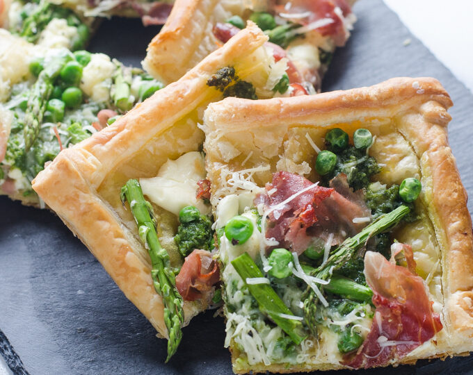 Spring Asparagus Puff Pastry Tart