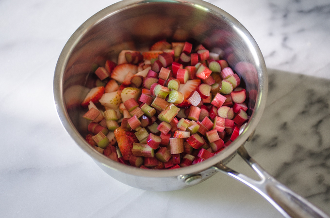 Strawberry rhubarb compote.