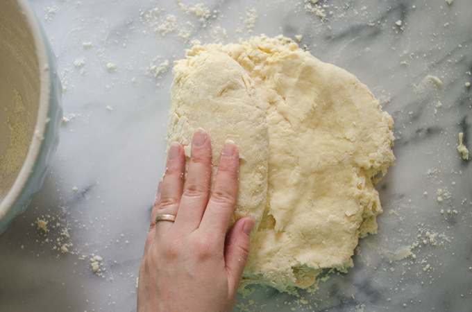 Folding the dough, part 1.
