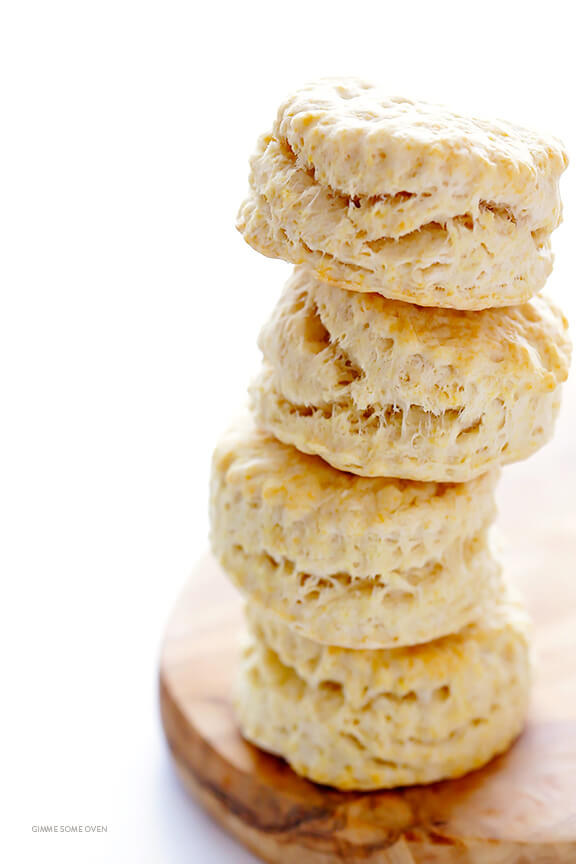 Coconut Oil Biscuits in a stack.