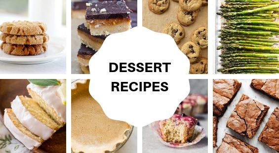 Collage of Dessert Coconut Oil Recipes