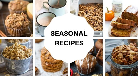 Collage of Seasonal Coconut Oil Recipes