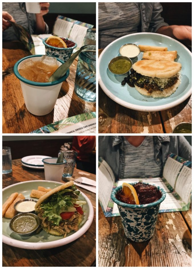 Fun Restaurants in Minneapolis: Hola Arepa Minneapolis MN - Mocktails, beef and chicken arepas