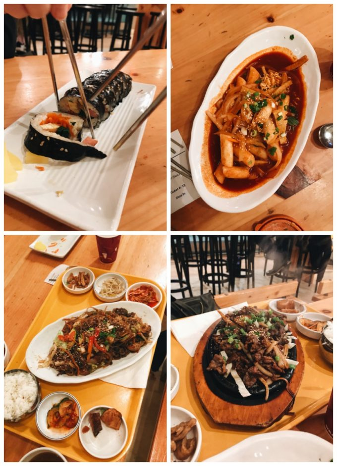 Kbop Korean Bistro Minneaolis: Gimbap, Dokkboki, Bulgogi, and Japchae