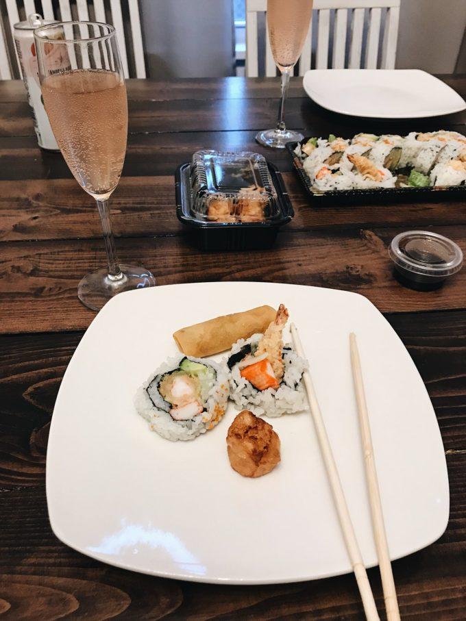 Door dash sushi, Minneapolis MN