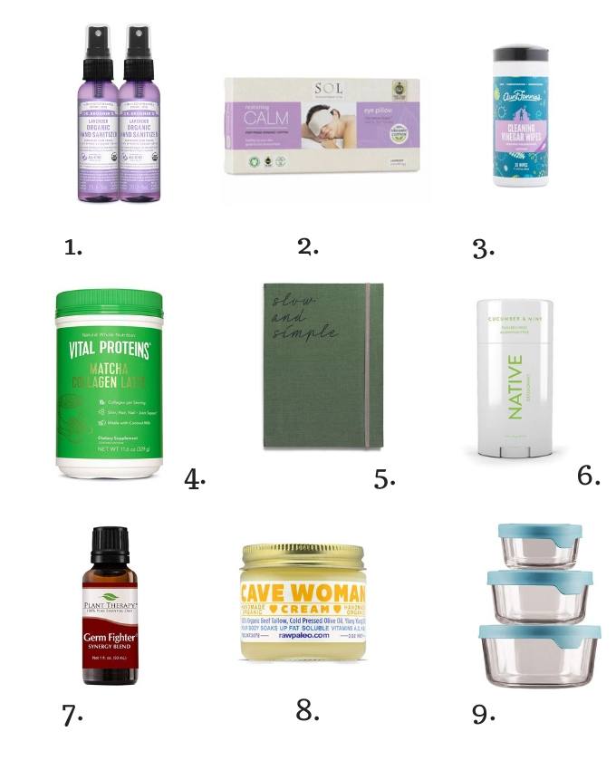 Collage of ethical or fair trade gift guide for health nuts