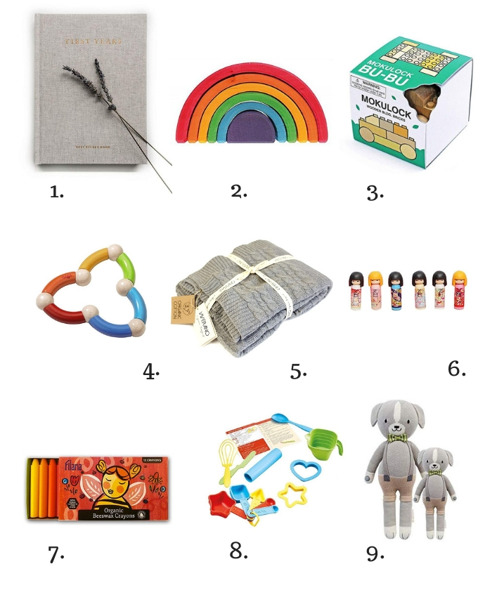 Collage of gifts for children