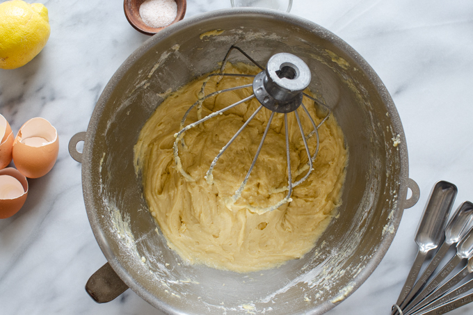 The mixed batter.