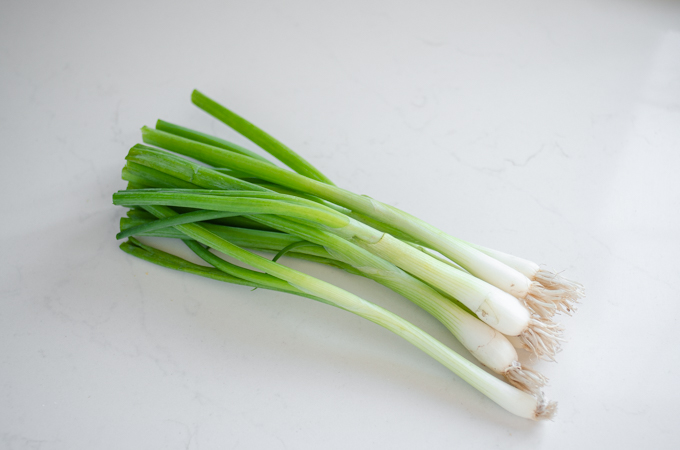 A bunch of green onions.