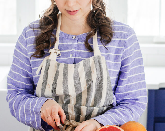 Slicing a grapefruit the best way.