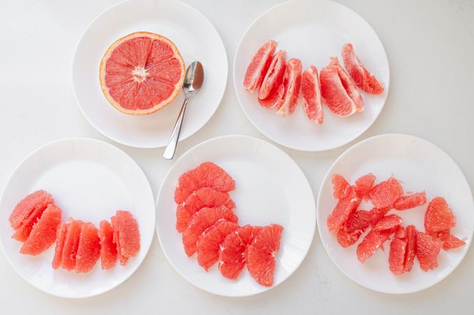 5 ways to cut a grapefruit.