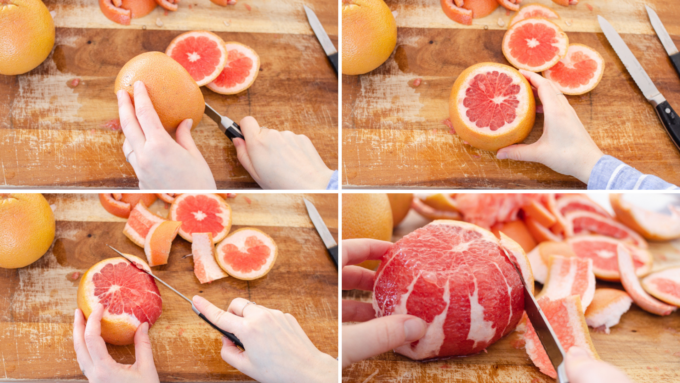 The best way to cut a grapefruit.
