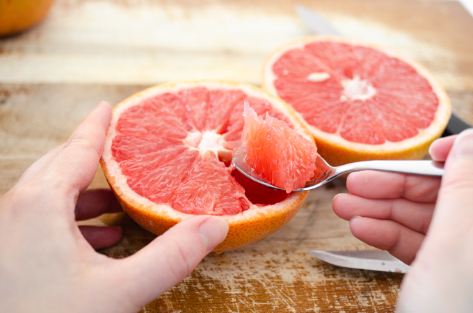 How to eat a grapefruit with a spoon.