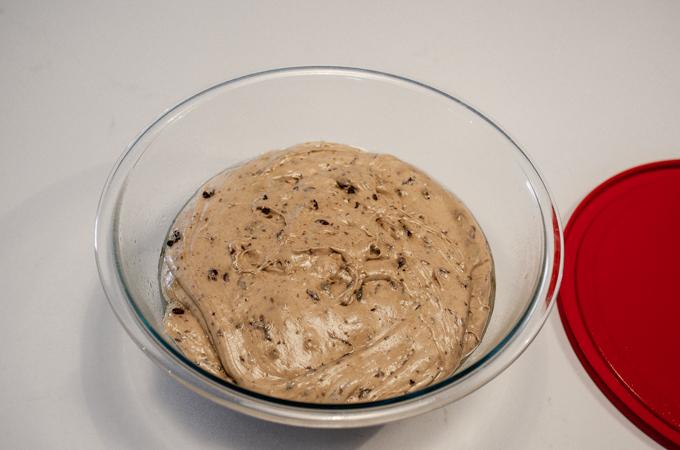 The risen dough.