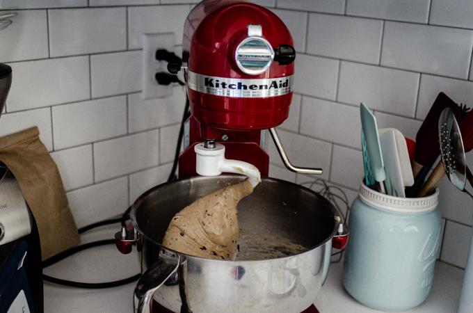 The kneaded dough.