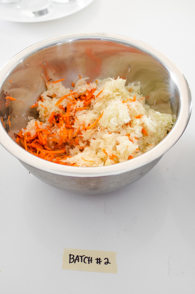 Spicy sauerkraut made with red pepper flakes and shredded carrot.