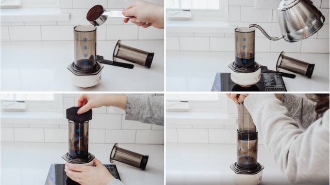 How to make espresso with an Aeropress for a mocha