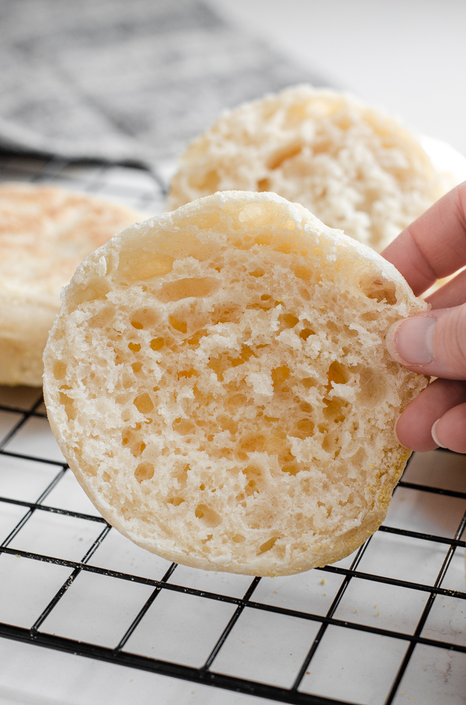 This is a great recipe for homemade sourdough English muffins!