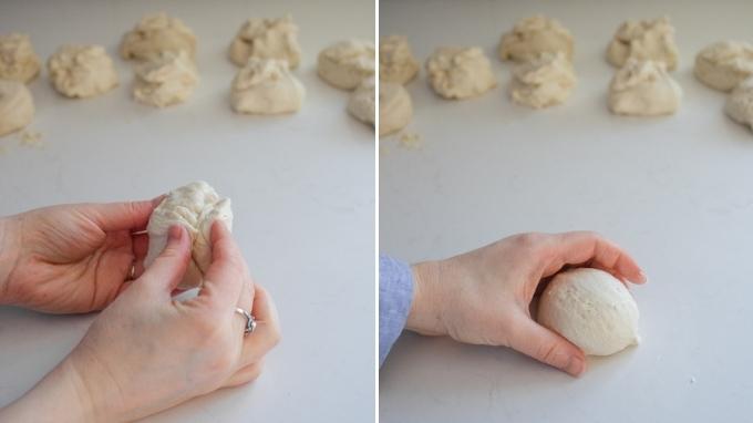 Shaping Sourdough English Muffins