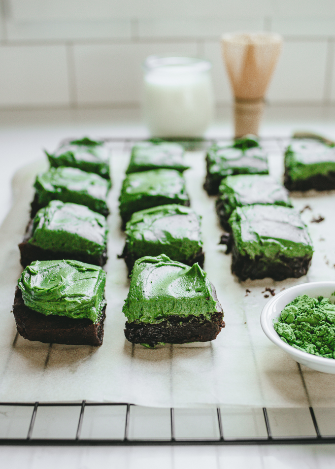 The BEST Matcha Brownies Recipe without white chocolate!